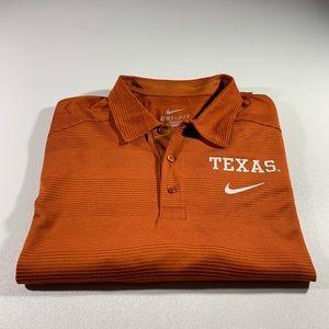 Burnt Orange Texas Longhorns Nike dri fit polo